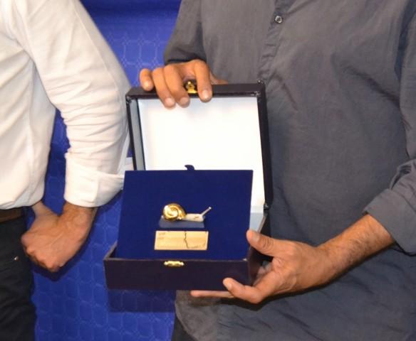Maurizio Sarri riceve la Chiocciola d'Oro (foto gonews.it)