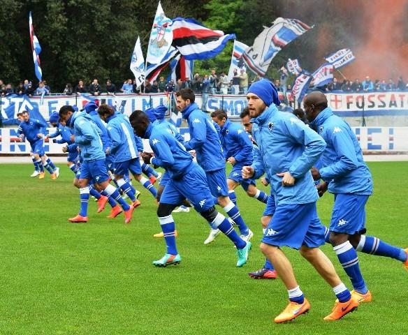 Allenamento calcio Sampdoria ufficiale