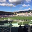 I tifosi dell'Empoli assistono al derby contro la Fiorentina dal 'Formaggino' dell'Artemio Franchi (foto Empolichannel.it)