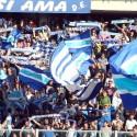 La sciarpata azzurra in Maratona (foto Empolichannel.it)