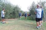 Empoli Calcio Azzurri al lavoro tra gli olivi di Monteboro. Tornano le corse in salita