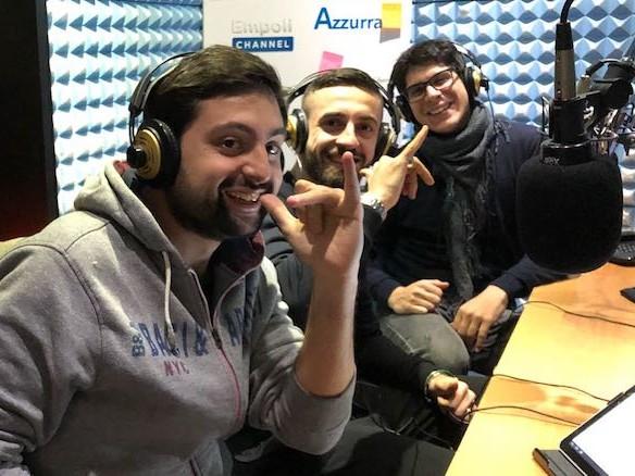 Francesco Caputo ospite a Incontro Azzurro negli studi di Radio Lady