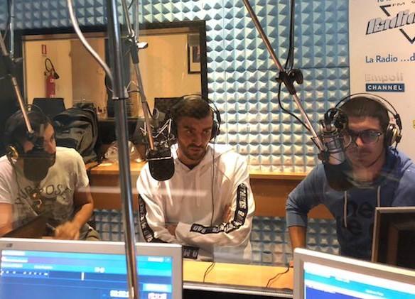 Pietro Terracciano ospite negli studi di Radio Lady durante Incontro Azzurro